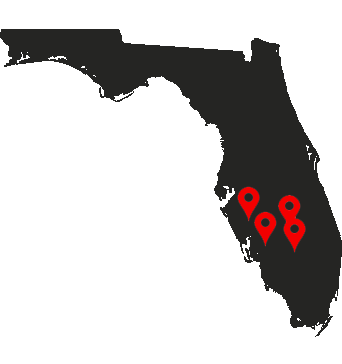Florida Map Pins