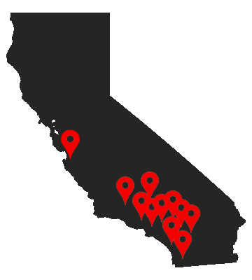 California State Map Pins